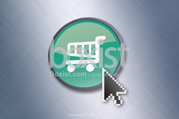 Mouse Pointer Click on Shopping Cart Button