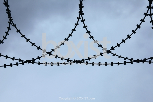 Razor Barbed Wire Silhouette