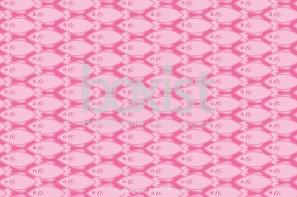 Seamless Fish Patterns on Pink Background