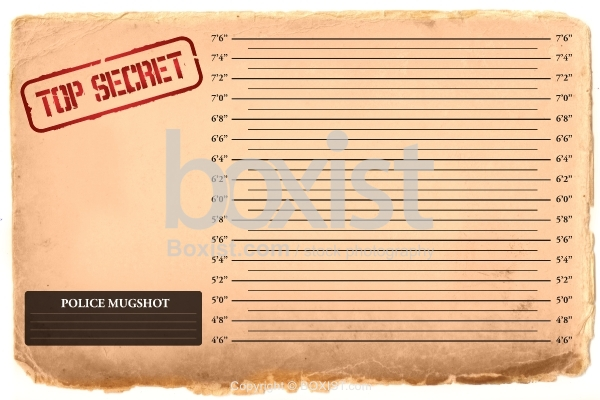 Secret Mugshot Background on Old Vintage Paper