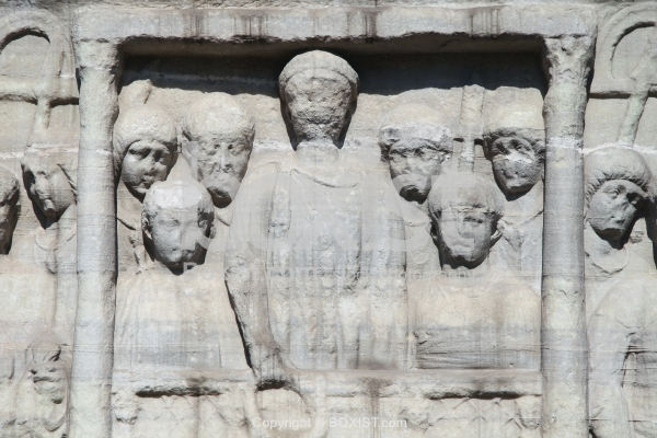 Theodosius the Great Offers Laurels of Victory Sculpture in Istanbul