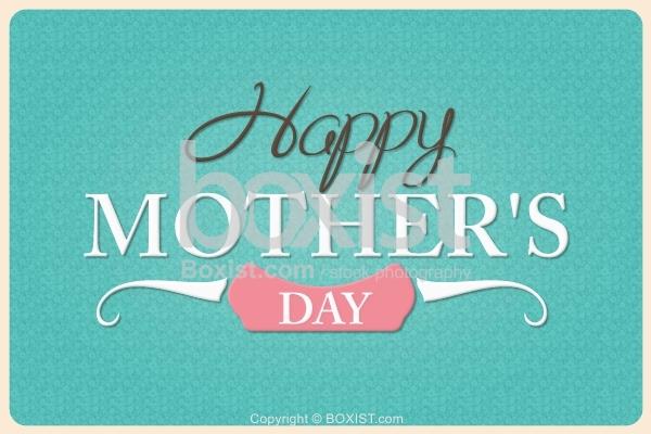 Happy Mothers Day Retro Design