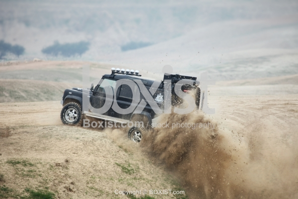 Offroad Car on Top of Hill