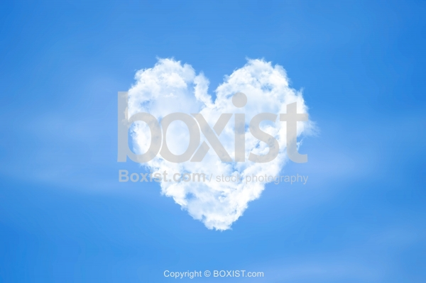 Sky Clouds in the Shape of Love Heart
