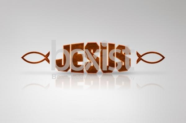 Jesus with Fish Design