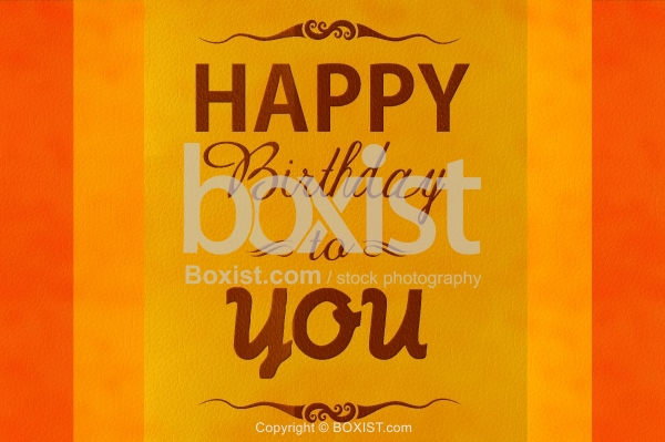 Happy Birthday Greeting on Leather Background