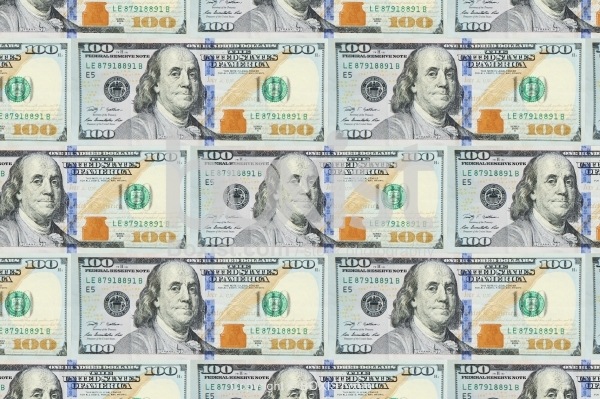 New One Hundred Dollars Background