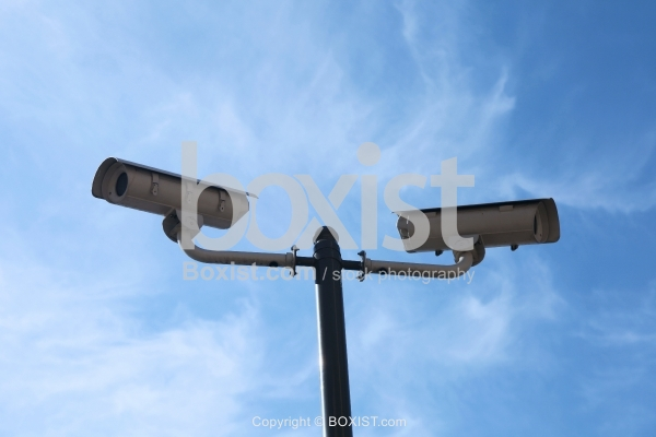 Pole With Security Cameras