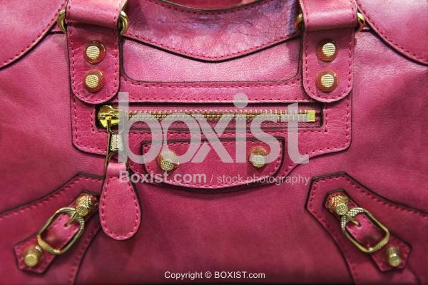 Purple Leather Bag