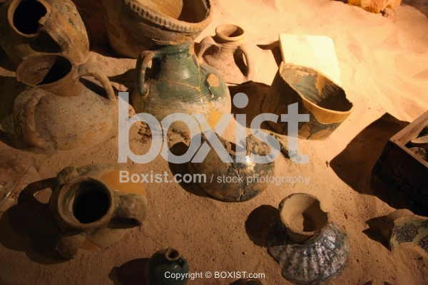 Remains of Old Jars In Sand