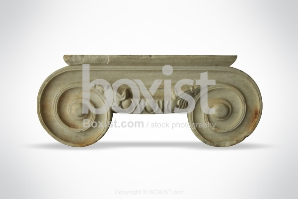 Ionic Capital with Volute Connected by Concave Molding