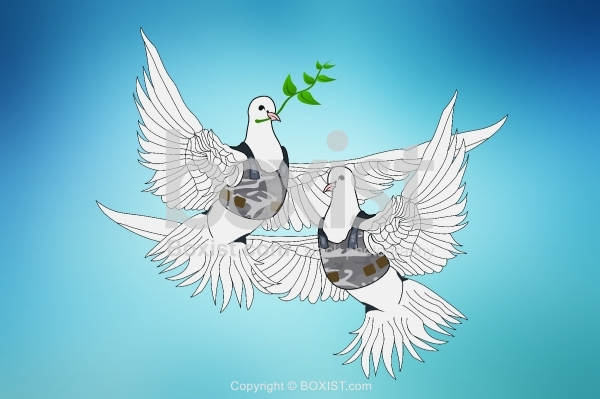 Peace Doves with Body Armour Vest