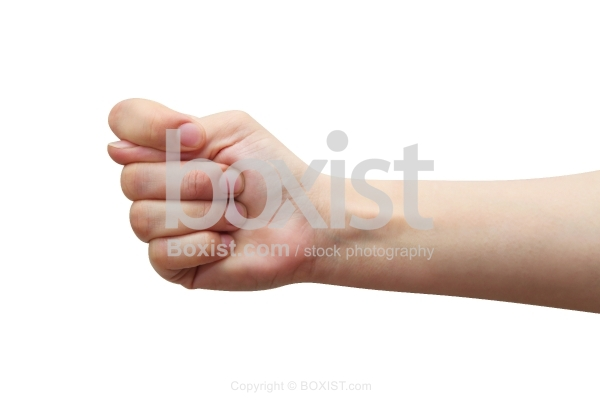 Thumb in Fist Gesture