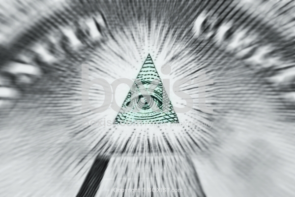 Dollar Pyramid Eye Zooming