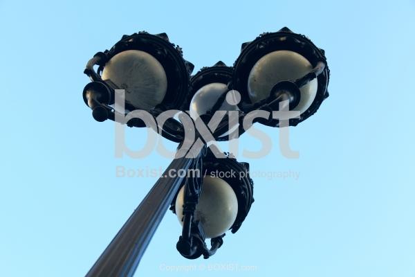 Street Pole Light From Under