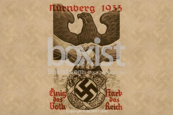 Nuremberg Rally 1933 Nazi Propaganda Card