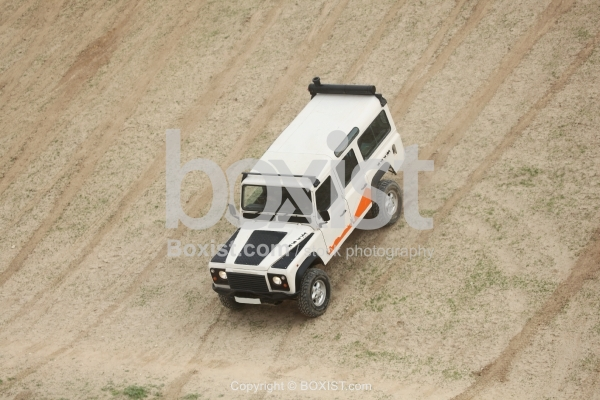 Four Wheel Vehicle Going Down The Hill