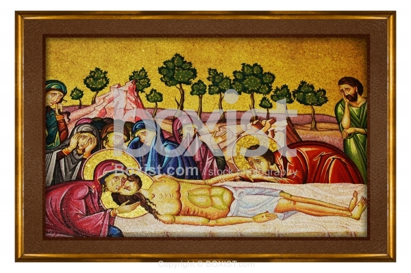 Jesus Body Prepared for Burial Painting