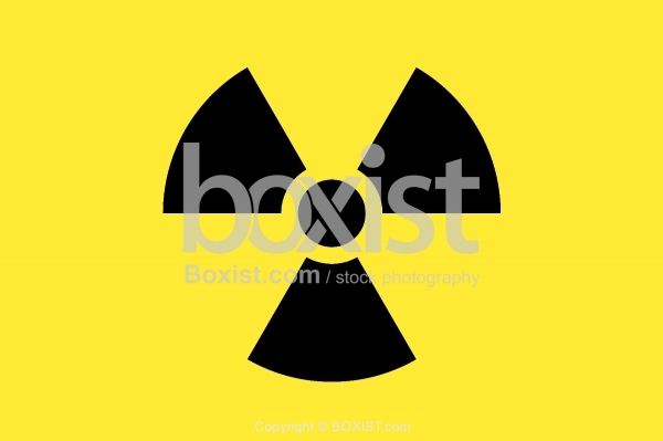 Radioactive Sign On Yellow Wall