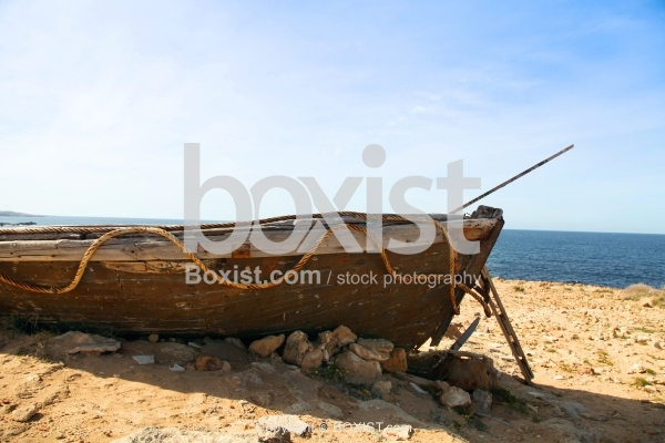 Remains Of Old Fishing Boat