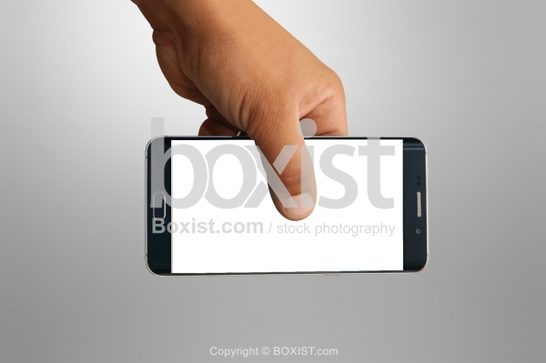 Hand With Blank Smartphone Screen
