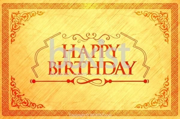 Happy Birthday Card With Decorative Border
