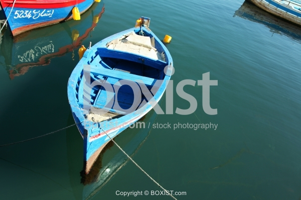 Wood Boats for Fishing in Water