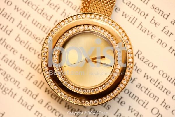 Closeup Shot Of Gold Watch