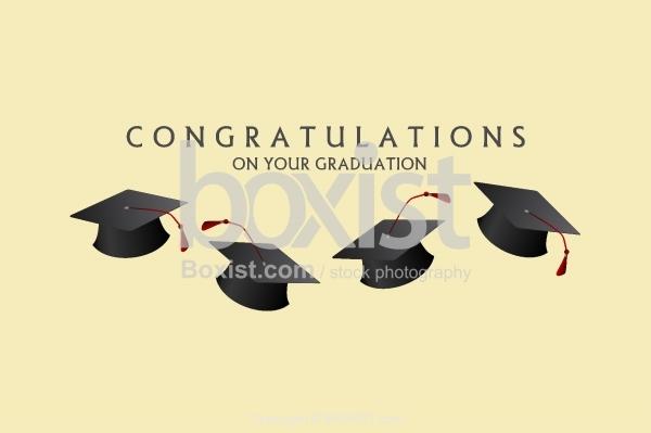 Congratulations With Graduation Hats