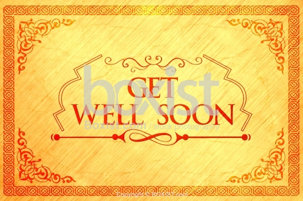 Get Well Soon Card with Decorative Border