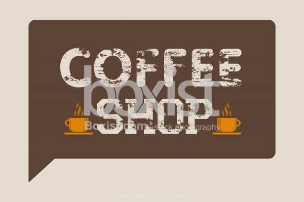 Retro Design Of Coffee Shop Sign