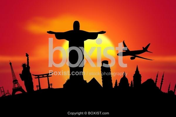 World Cities Travel Silhouette