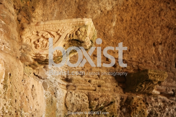 Ancient Arch Column Support On Wall
