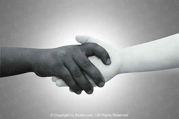 Black And White Children Holding Hands