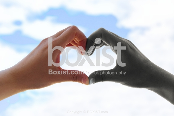 Black And White Hands Love Heart