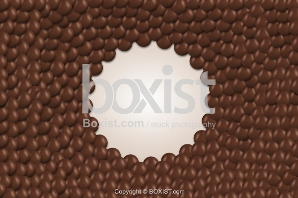 Chocolate Balls With Blank Circle Background