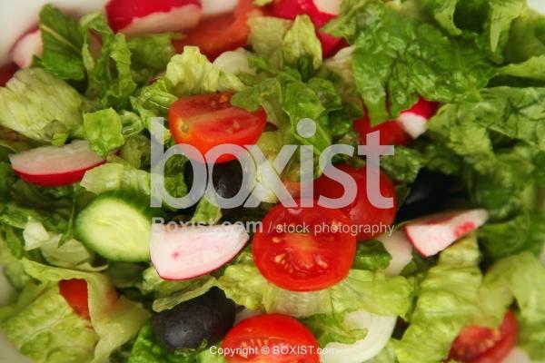 Close Up Of Fresh Vegetarian Salad