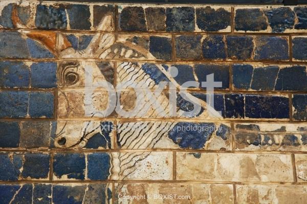Closeup Of Aurochs From Ishtar Gate Of Babylon