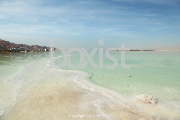 Crystal Salt Beach On Dead Sea Coast