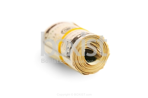 Dollars Money Roll With Rubber Band