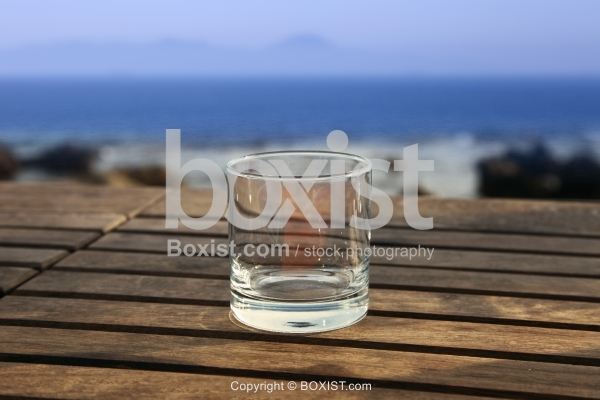 Empty Glass On Table
