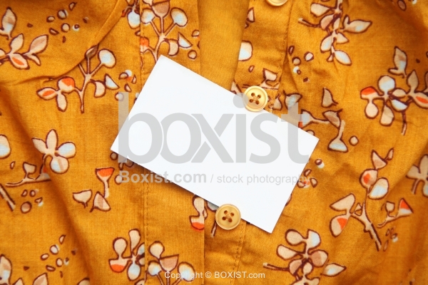 Floral Clothes With Blank Tag