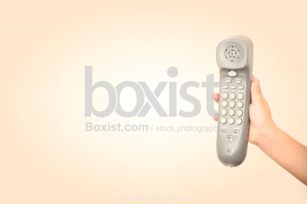 Hand Holding Telephone Handset