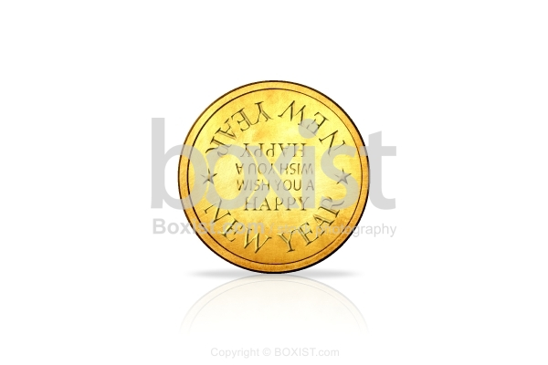 Happy New Year Golden Coin
