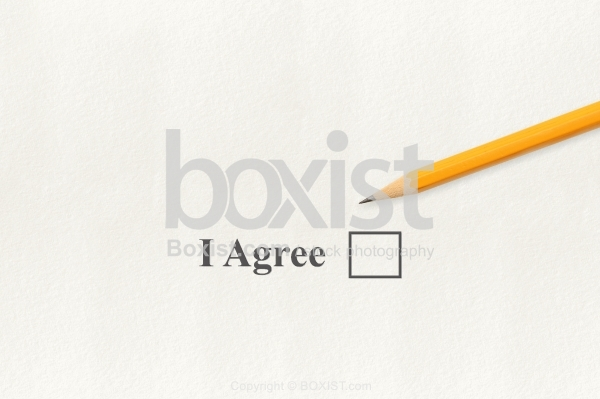 I Agree Checkbox With Pencil