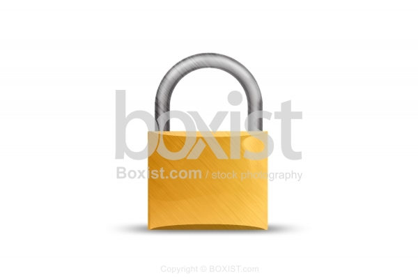 Yellow Padlock Clipart