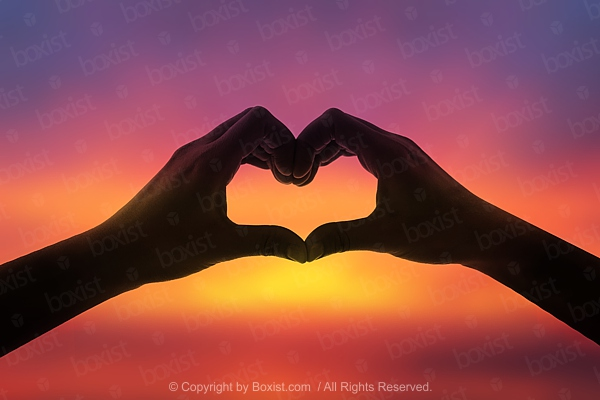 Love Heart In The Sky By Hands