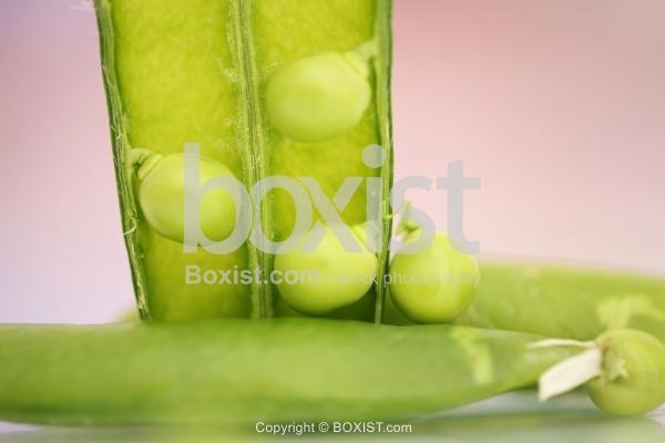 Macro Of Green Peas