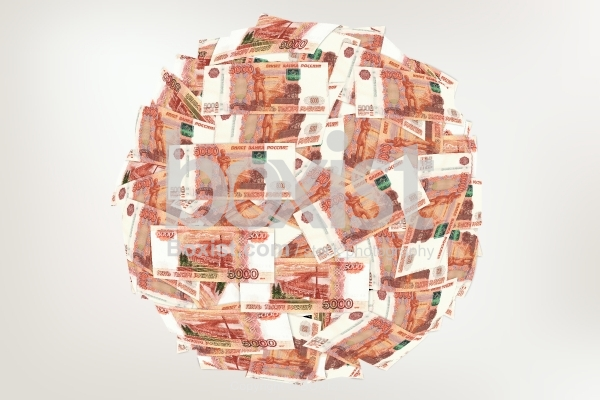 Money Globe Made With Russian Banknotes