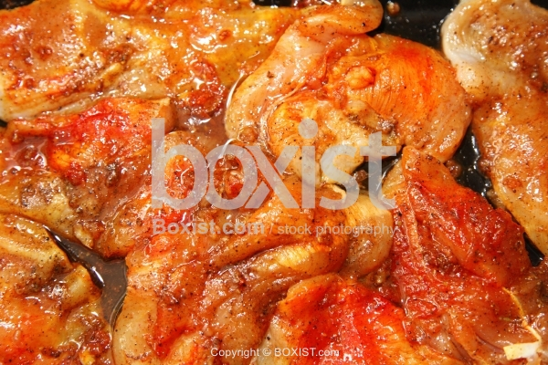 Raw Chicken Breast With Oil And Spices